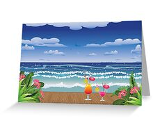 Cocktail on the beach 4 Greeting Card