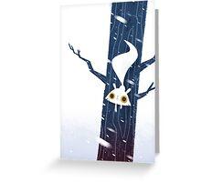 White Squirrel Greeting Card