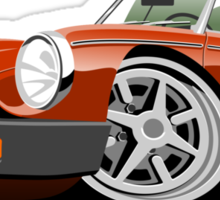 MG MGB 'rubber bumper' caricature blaze Sticker