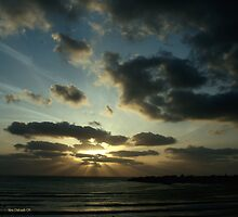 Light Over Akko Beach by Nira Dabush