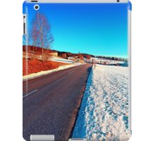 Country road on a winter afternoon | landscape photography iPad Case/Skin
