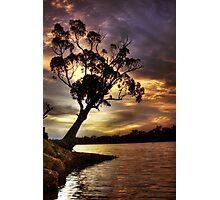 River Redgum Sunset Photographic Print