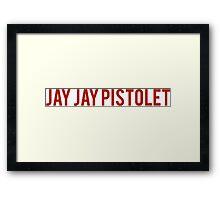 Jay Jay Pistolet Framed Print