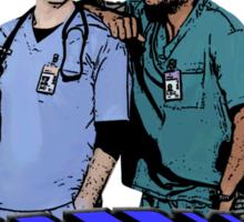 Scrubs - JD & Turk Sticker