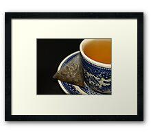CUP OF GREEN TEA Framed Print