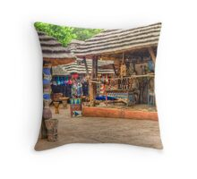 African trading post for Tourists_ South Arica Throw Pillow