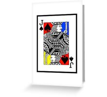 JACK OF SPADES-COLOUR Greeting Card