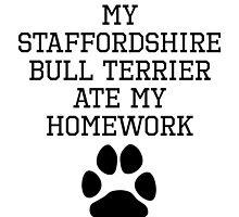 My Staffordshire Bull Terrier Ate My Homework by kwg2200