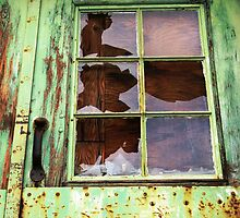 Rooster in the Window by Leanna Lomanski