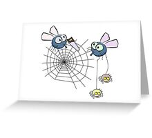 Spiders playing Greeting Card