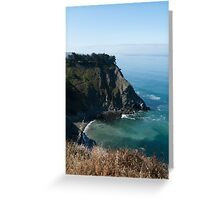 Pacific Cliff Greeting Card