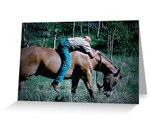 """Cowboy Recliner"" Greeting Card"