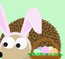 Happy Easter Hedgehog Sticker