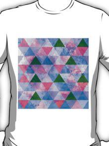 Modern Pink, Blue & Green Geometric Design T-Shirt