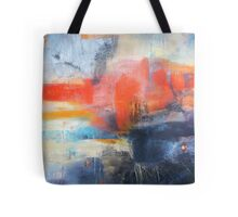 Blue Red Abstract  Tote Bag