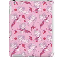 Vintage Pink Valentine Angels with Roses.  iPad Case/Skin