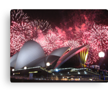 Sydney Opera House up in Lights Canvas Print