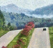 Ride On Into Franklin On The Merle Dryman Parkway by Jean Gregory  Evans