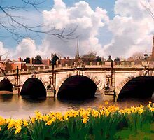 English Bridge, Shrewsbury by Peter Sandilands