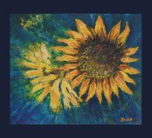 Sunflower Study (acrylic) Kids Clothes
