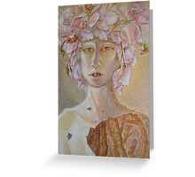 Rosewoman - Portrait In Crayon With Thorns For Teeth Greeting Card