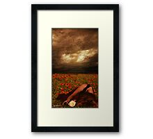 And Then Love Walked Out... Framed Print