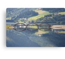 Mirror bridge Canvas Print