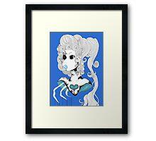 Blue Bust.  Framed Print