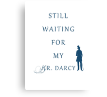 Waiting For My Darcy - Blue Canvas Print