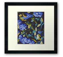 Dance in Blue and Green Framed Print