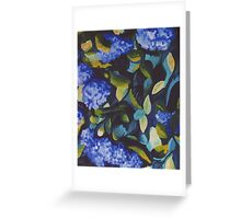 Dance in Blue and Green Greeting Card