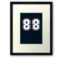 eighty eight Framed Print
