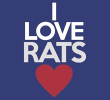 I love rats by onebaretree