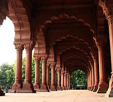Engrailed Arches Red Fort - New Delhi by aidan  moran