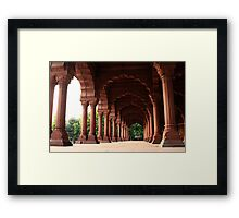 Engrailed Arches Red Fort - New Delhi Framed Print