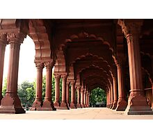 Engrailed Arches Red Fort - New Delhi Photographic Print