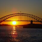 Sunset - Sydney Harbour Bridge by Samantha  Goode