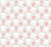 Cute Lamb Pattern for Baby Girl or Kids by PatternPrint
