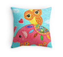 Love Is Like An Elephant Throw Pillow