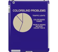 Color blind problems iPad Case/Skin