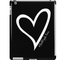#BeARipple...FOCUS White Heart on Black iPad Case/Skin