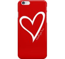 #BeARipple...FOCUS White Heart on Red iPhone Case/Skin