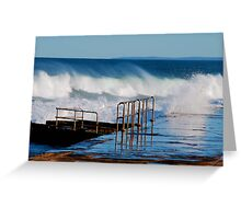 Waves Breaking Over Newcastle Baths Greeting Card