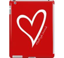 #BeARipple...GRATITUDE White Heart on RED iPad Case/Skin