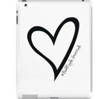 #BeARipple...GRATITUDE Black Heart on White iPad Case/Skin