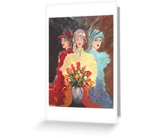 Three Madams of the Wild West Greeting Card