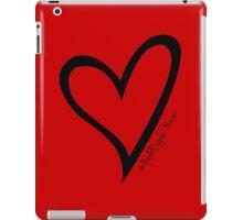 #BeARipple...PEACE Black Heart on Red iPad Case/Skin