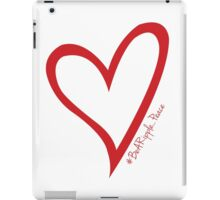 #BeARipple...PEACE Red Heart on White iPad Case/Skin