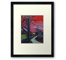 Mystic Grassland Framed Print
