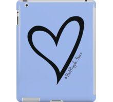 #BeARipple...PEACE Black Heart on Lavender iPad Case/Skin